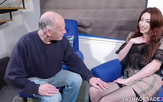 Sasha gets her dick wet at the Nursing Home! Visiting Grandpa, taboo roleplay ;)