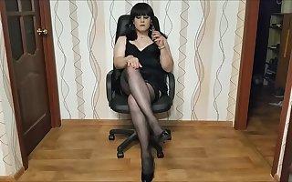 Smoking Tgirl